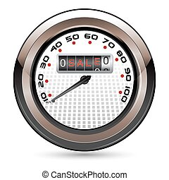 Sale Speedometer - illustration of speedometer showing sale...