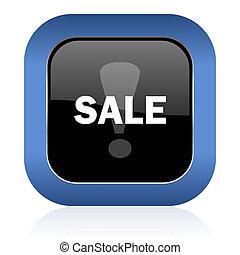 sale square glossy icon