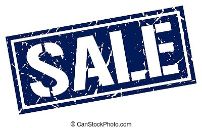 sale square grunge stamp