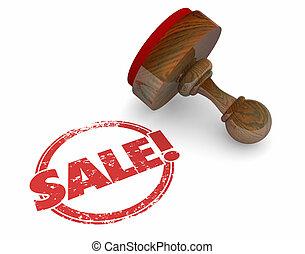 Sale Stamp Word Deal Agreement Discount Offer 3d Illustration