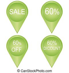 sale sticker 60 percent