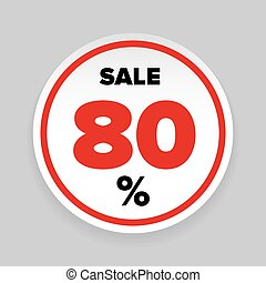 Sale Sticker Eighty percent vector