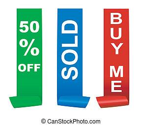 sale sticker set, vector