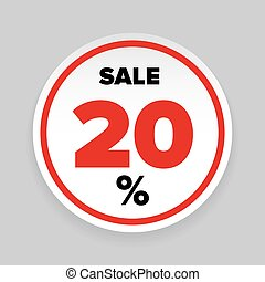 Sale Sticker Twenty percent