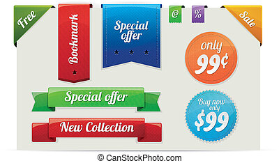 Sale stickers and labels - Collection of sale and...