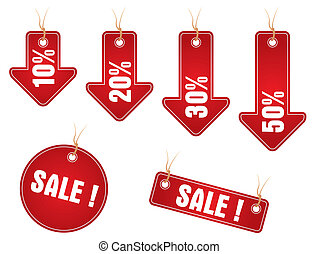 Sale stickers - Set of labels for discount in market