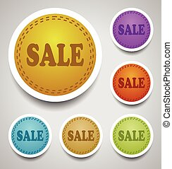 Sale stitched labels
