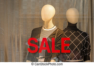 sale - seasonal sale in a fashion store. time for bargain...
