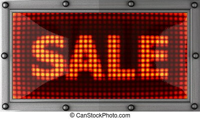sale  announcement on the LED display