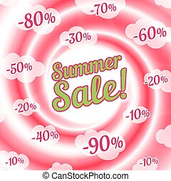 Sale swirl. Summer background.