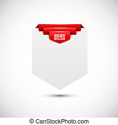 Sale tag. Blank paper background. Vector illustration for your design.