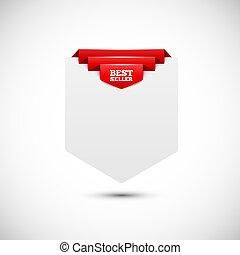 Sale tag. Blank paper background. Vector illustration for...