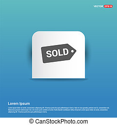 Sale tag icon - Blue Sticker button