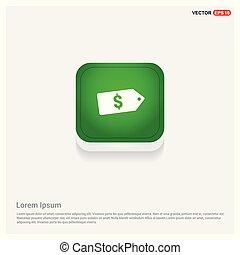 Sale tag icon Green Web Button