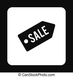 Sale tag icon, simple style