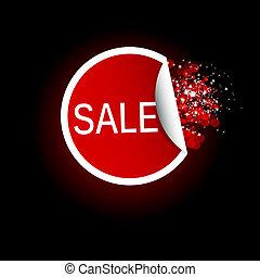 Sale Tag label. Vector illustration