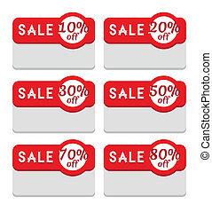 Sale Tag Template, Various Discount Percentage