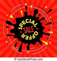 Sale tag vector illustration. Special offer advertising banner