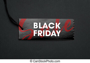 Sale tag with black friday campaign