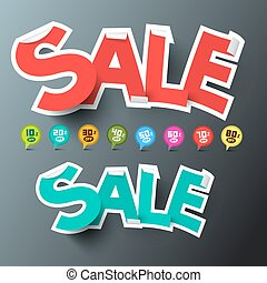 Sale Tags and Discount Labels Set Vector