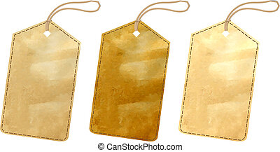 Sale Tags - 3 Sale Tags With Gradient Mesh, Vector...