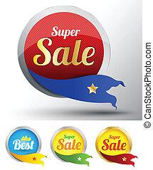Sale tags label set