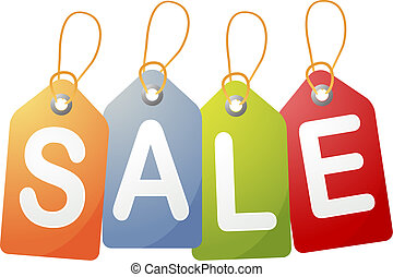 Sale tags - Set of price tags spelling out SALE