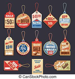 Sale Tags Vector Collection