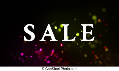 sale text and dark background