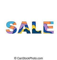 Sale text background