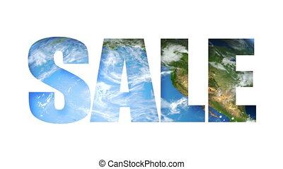Sale Text Earth (Loop)