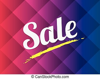 Sale text on abstract background.
