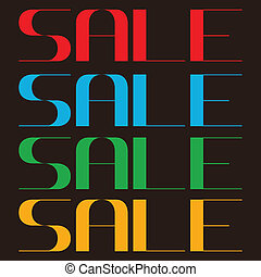 sale text. vector illustration