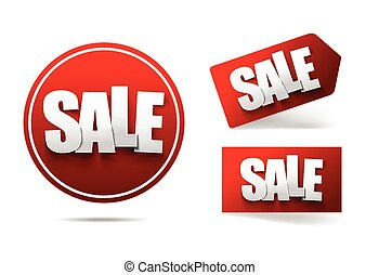 Sale text with tag banner on white background