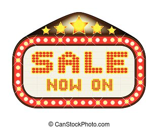 Sale Theatre Marquee - A Sale Now On movie theatre or...