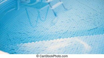 sale, très, piscine, natation