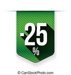 Sale twenty five percent off banner red ribon