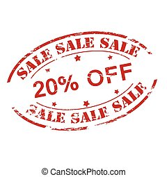 Sale twenty percent off