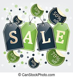 Sale vector background