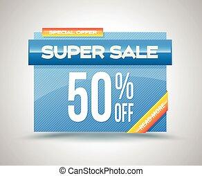 Sale vector banner template