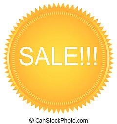 Sale vector label