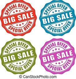 Sale vector stamp