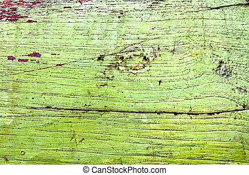 sale, vieux, mur, bois, vert