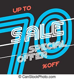 Sale vintage poster