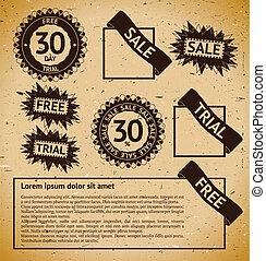 Sale vintage stamp labels