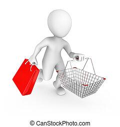 sale., voják, shopping vozík, 3