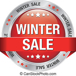 sale winter silver red button