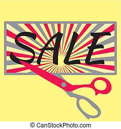 Sale with scissors