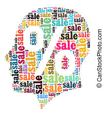 Sale word cloud concept