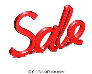 Sale word isolated on white background